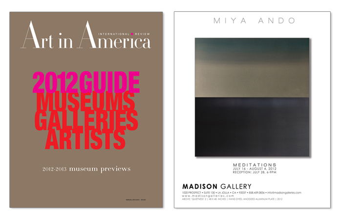 AIA ando annualguide2012 Art In America   Miya Ando 2012 press miya ando press art in america