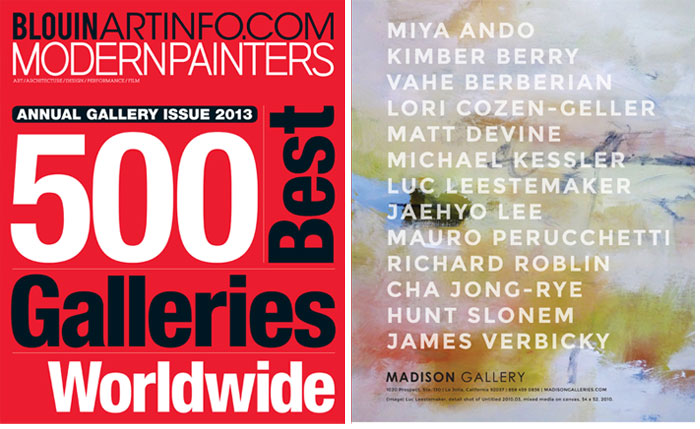Top500 Modern Painters Magazine & Blouin ARTINFO   Top 500 Annual 2013 recent press press modern painters gallery