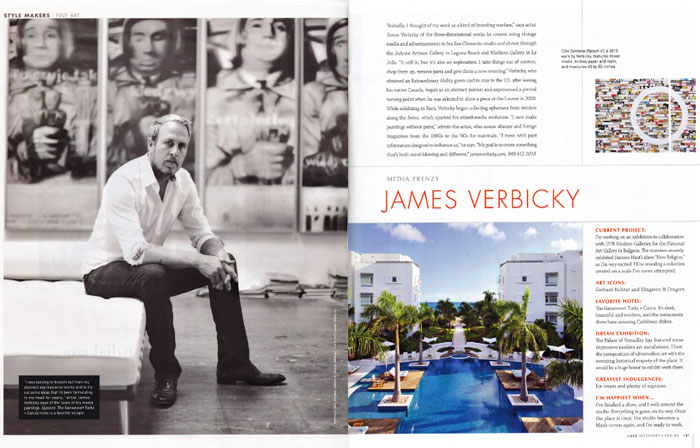 Verbicky in Luxe Mag 2013 editorial Luxe Magazine   James Verbicky 2013 uncategorized recent press press misc press james verbicky press