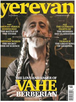 YEREVAN cover Yerevan Magazine   Vahe Berberian Fall 2008 vahe berberian press press misc press